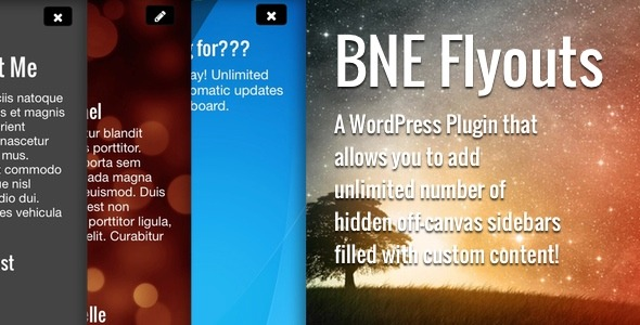 CodeCanyon Flyouts Off Canvas Custom Content for WordPress 7837448