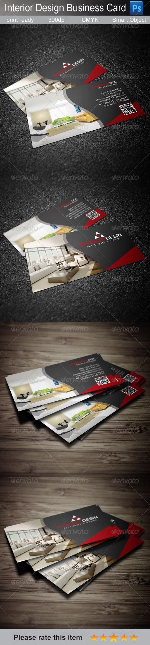 GraphicRiver Interior Business Card 7857913
