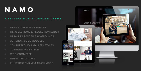 ThemeForest NAMO Creative Multi-Purpose Wordpress Theme 7805772