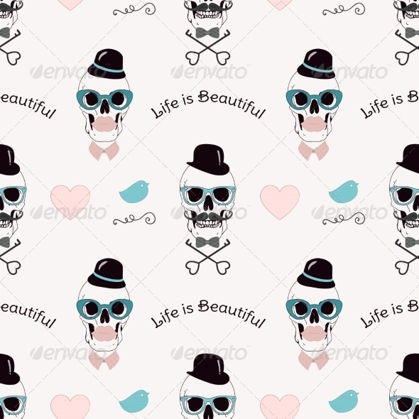 GraphicRiver Life is Beautiful Funny Pattern 7858149