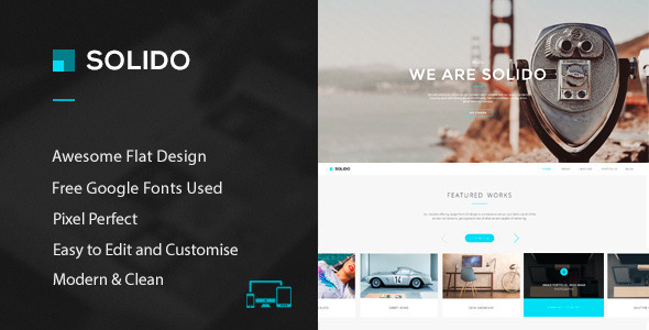 Solido – PSD Template Solido is a unique and creative PSD template with clean and modern design. It is perfect choice for your corporate agency, creative stu