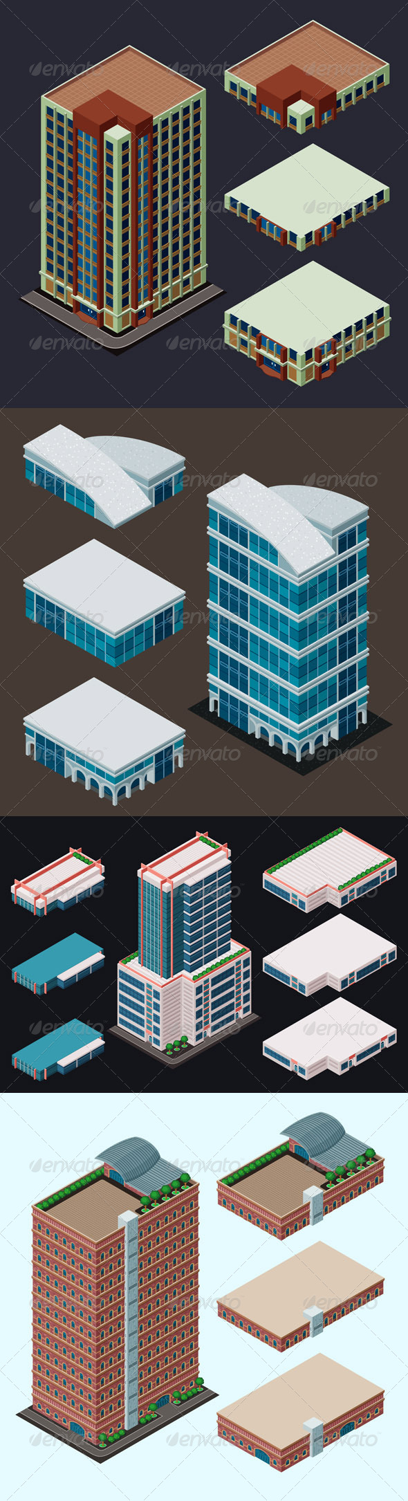 GraphicRiver Isometric Modern Building 7858181