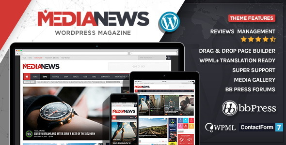 MediaNews - WordPress News Magazine Blog Theme