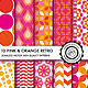 10 Pink & Orange Retro Seamless Patterns - GraphicRiver Item for Sale