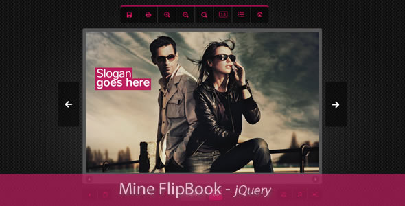 Mine Flipbook -jQuery