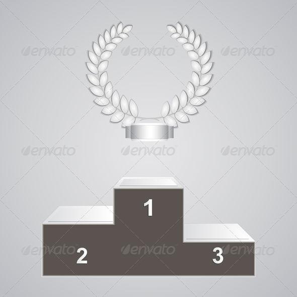GraphicRiver Pedestal and Laurels 7858330