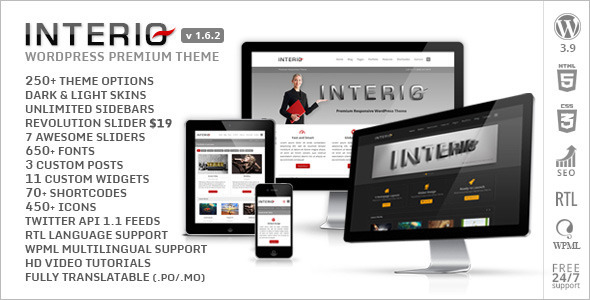 Interio - Responsive Multipurpose Wordpress Theme - Corporate WordPress