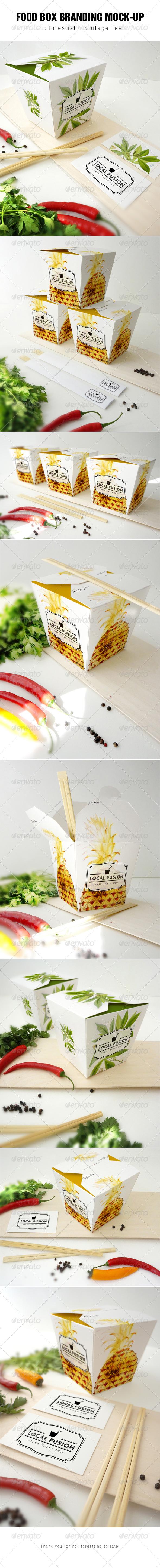 GraphicRiver Food Box Branding Mockup 7859137