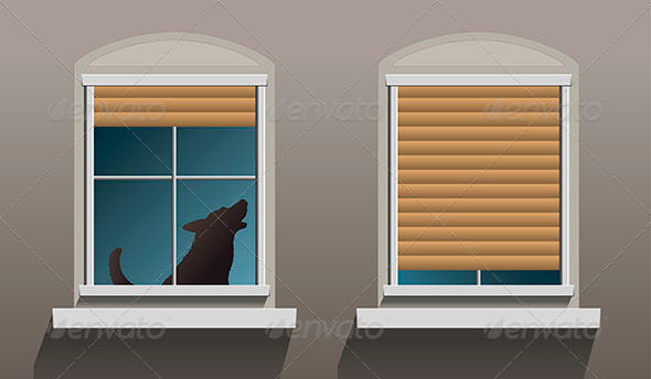 GraphicRiver Lonely Howling Dog Windows 7859162