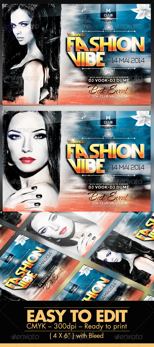 GraphicRiver Vallencia Fashion Vibe V2 Flyer Template 7859273