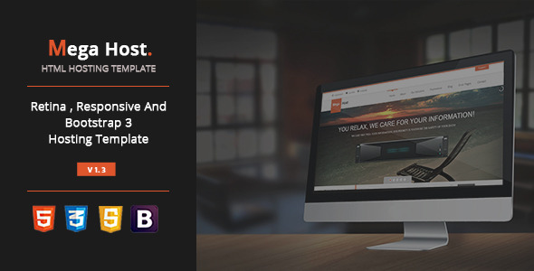 Mega Host - Bootstrap 3 - Html5 Hosting Template - Hosting Technology