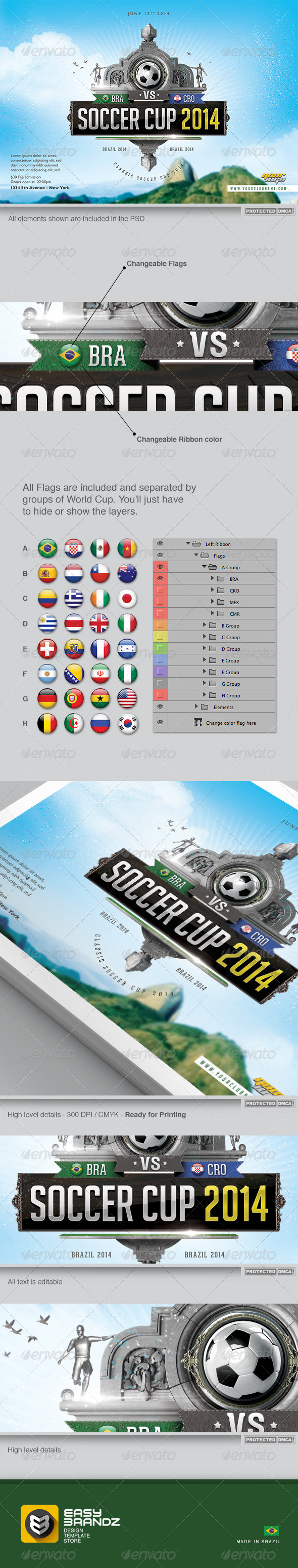 GraphicRiver Soccer Cup 2014 Flyer Template Vol.02 7859621