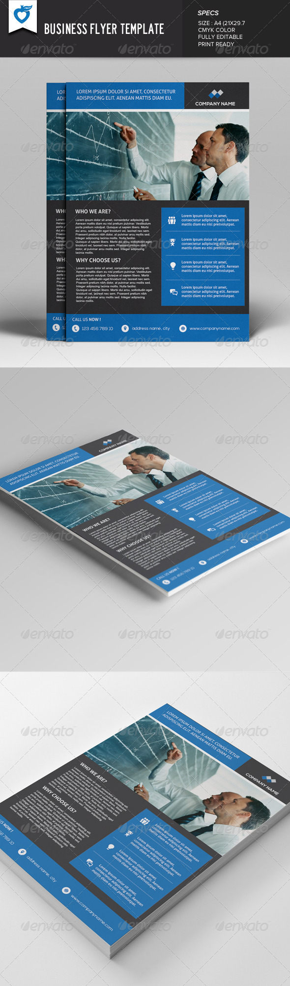 GraphicRiver Business Flyer Template v3 7844597