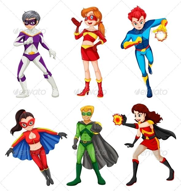 Six Superheroes