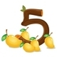 Five Mangoes - GraphicRiver Item for Sale