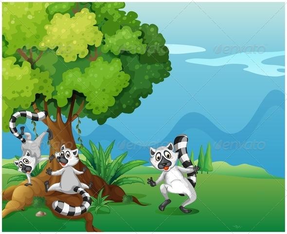 GraphicRiver Playful Lemurs 7859724