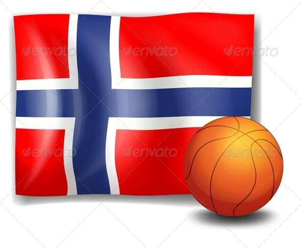 GraphicRiver Flag of Norway with Basketball 7859765