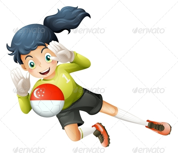 GraphicRiver Girl Catching Turkish Football 7859830