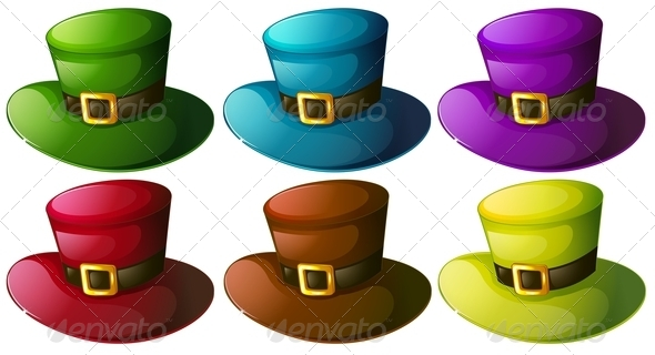 GraphicRiver Six Colourful Hats 7859940