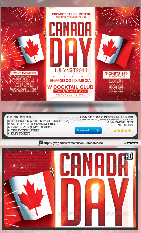 GraphicRiver Canada Day Festival 7859983