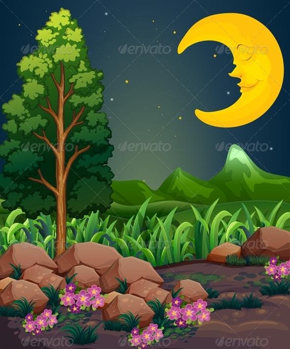 GraphicRiver Sleeping Moon 7860017