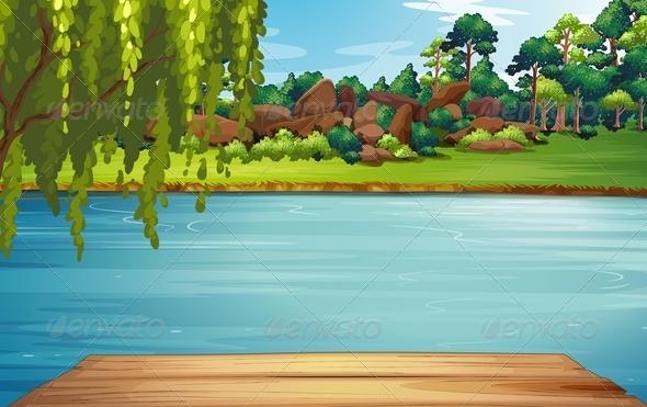 GraphicRiver River Scene 7860224