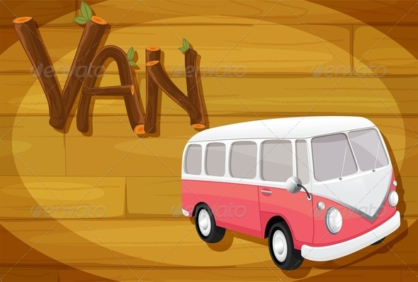GraphicRiver Wooden frame with a van 7860307