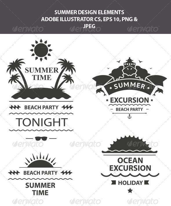 GraphicRiver Summer Design Elements 7860357
