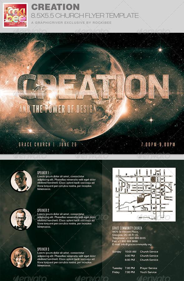 Creation Church Flyer Invite Template