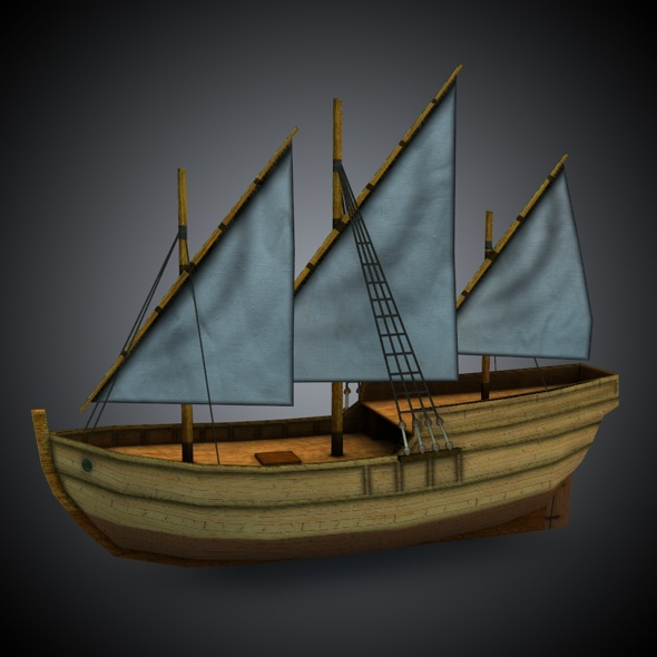 3DOcean Age of Sail Caravel 7860396