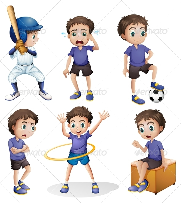 GraphicRiver Boy in Six Poses 7860474