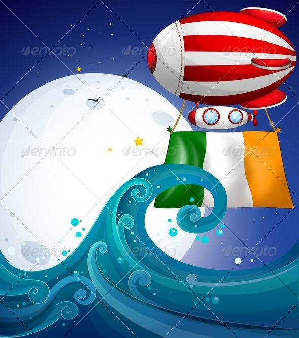 GraphicRiver Balloon with the flag of Ireland 7860496