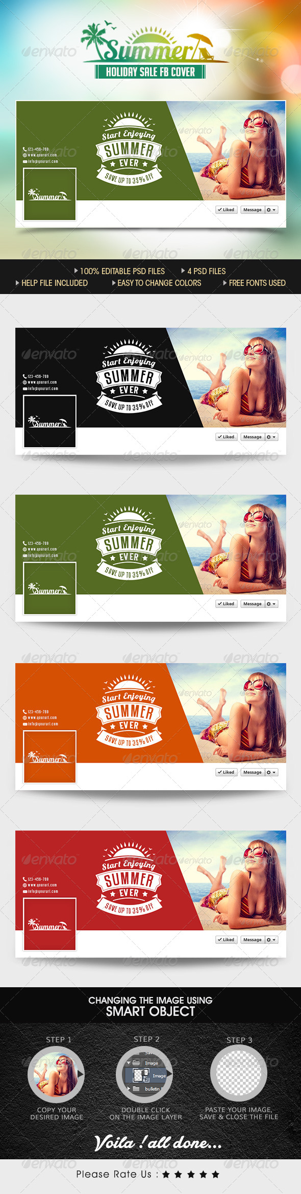 GraphicRiver Summer Sale Facebook Cover Pages 7860547