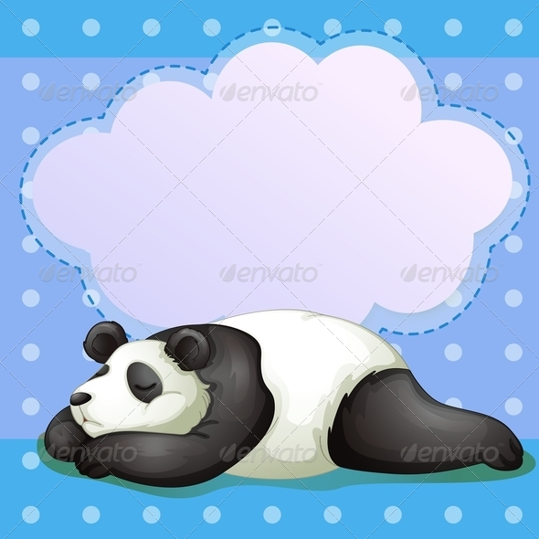 GraphicRiver Sleeping Panda with empty callout 7860603