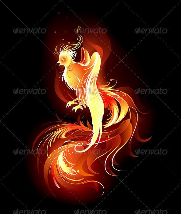 GraphicRiver Fiery Bird 7860649