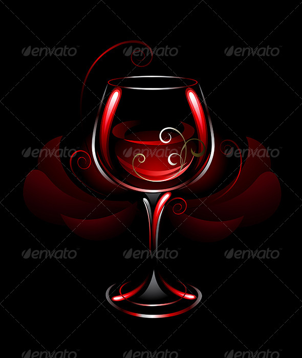 GraphicRiver Wineglass of Red Wine 7860683