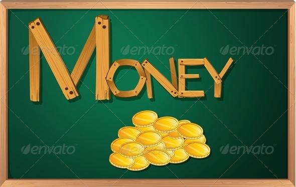 GraphicRiver Blackboard with money 7860684