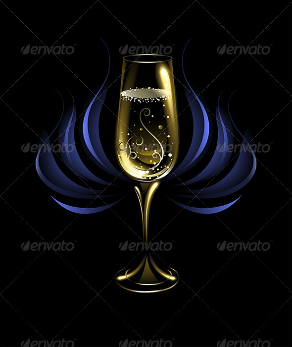 GraphicRiver Wineglass of Champagne 7860748