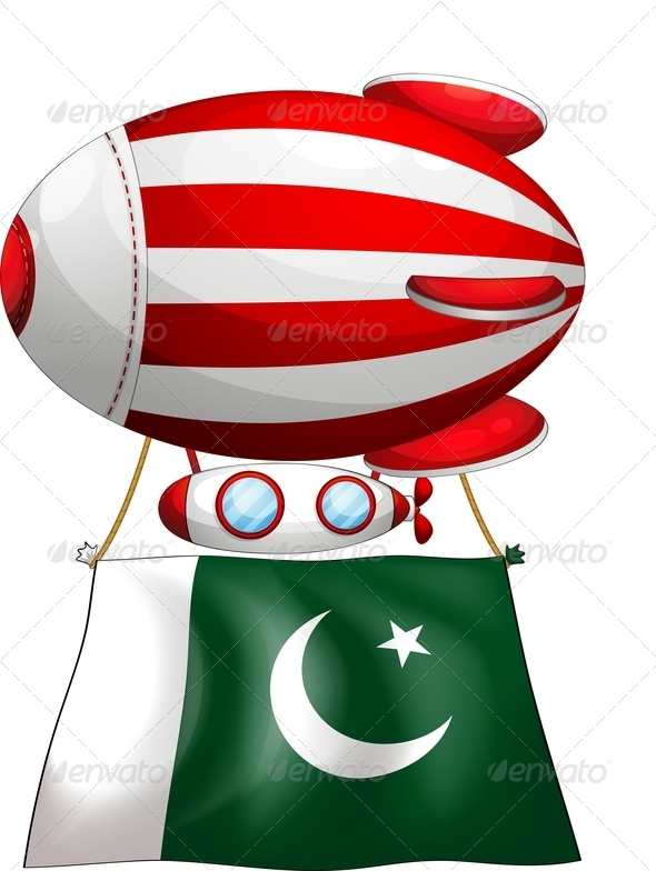 GraphicRiver Floating balloon with the flag of Pakistan 7860766