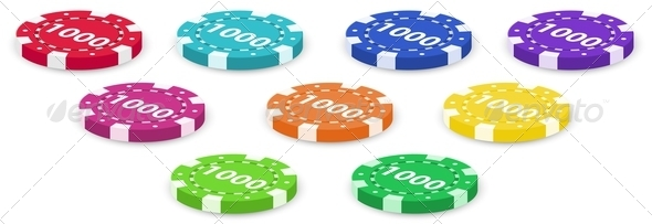 GraphicRiver Nine poker chips 7860894
