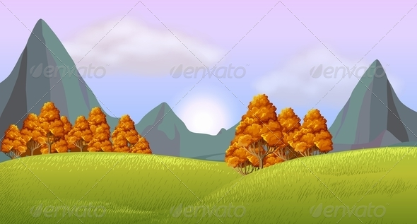 GraphicRiver Beautiful Landscape 7861057