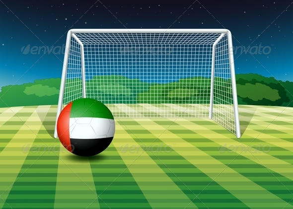 GraphicRiver UAE Soccer Ball on the Field 7861075