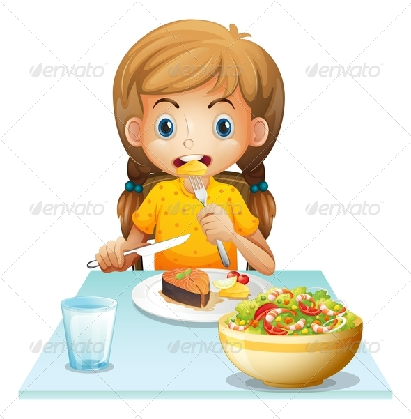 GraphicRiver Girl Eating 7861088