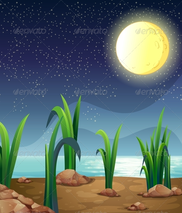GraphicRiver Bright fullmoon 7861437