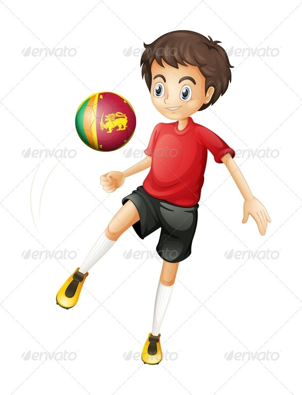GraphicRiver Boy Playing Soccer with Sri Lankan Ball 7861695