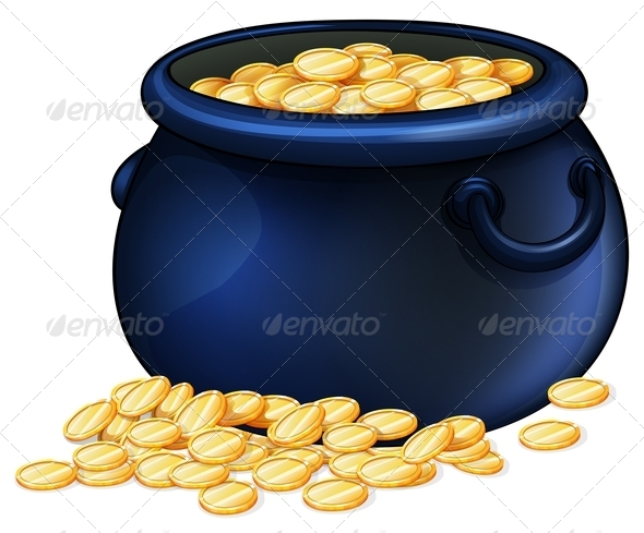 GraphicRiver Pot of gold coins 7861767