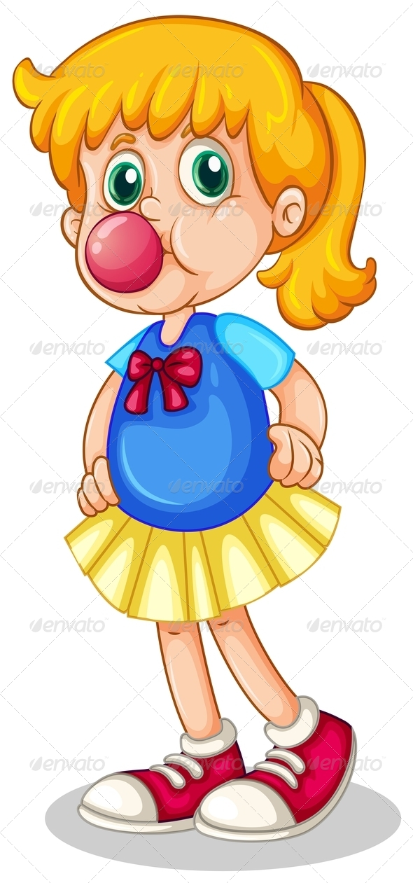 GraphicRiver Girl eating bubblegum 7861896