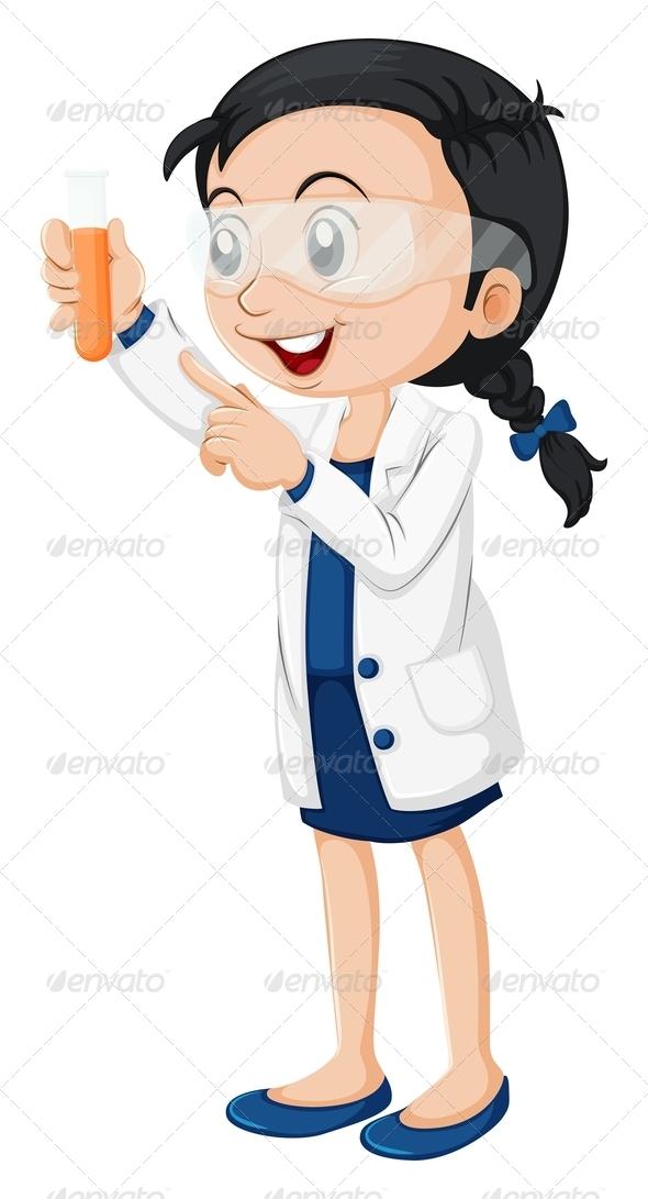 GraphicRiver Female Scientist 7861930
