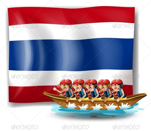 GraphicRiver Boating with the flag of Thailand 7862065