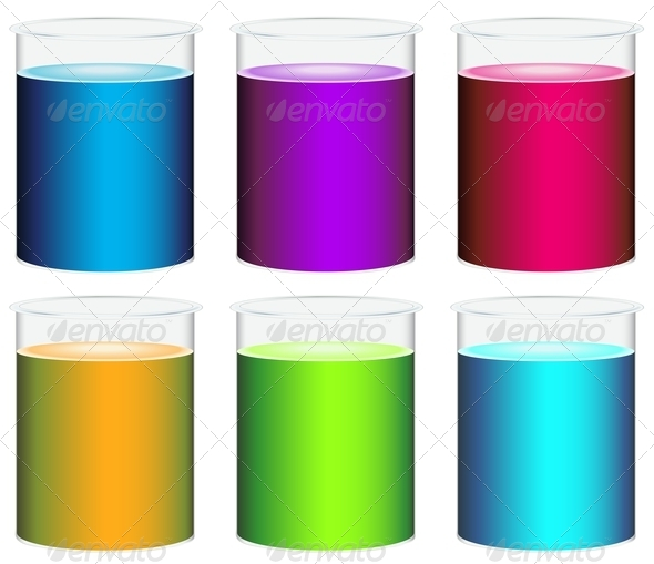 GraphicRiver Colourful beakers 7862507
